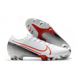 Nike Mercurial Vapor XIII Elite FG LAB2 - White Laser Crimson Black