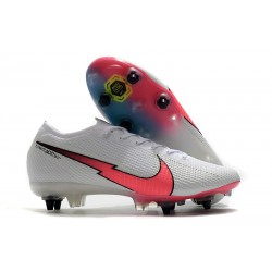 Nike Mercurial Vapor XIII Elite SG Anti Clog White Crimson Blue