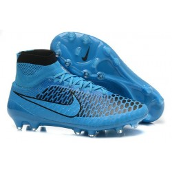 2016 Nike Magista Obra Firm-Ground Soccer Shoes Turquoise Blue Black