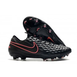 Nike Tiempo Legend VIII Elite FG Cleat Black Pink