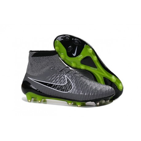 Nike Magista Obra FG Soccer Cleats - Low Price Grey Black Green