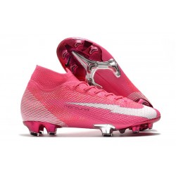 Nike New Mercurial Superfly 7 Elite FG X Mbappe Pink Blast White Black