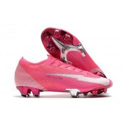 New Nike Mercurial Vapor 13 Elite FG X Mbappe Pink Blast White Black