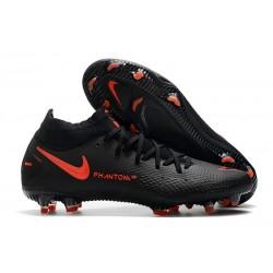 New 2021 Nike Phantom GT Elite DF FG Boots Black ChiliRed SmokeGrey