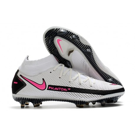 New 2021 Nike Phantom GT Elite DF FG Boots White Pink Black