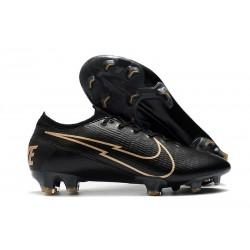 New Nike Mercurial Vapor 13 Elite FG Leather Black Golden