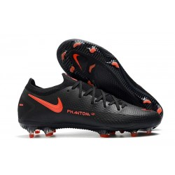 Nike Phantom GT Elite FG New Cleats Black Dark Smoke Grey Chile Red