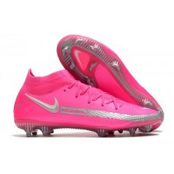 New 2021 Nike Phantom GT Elite DF FG Boots Pink Blast Silver