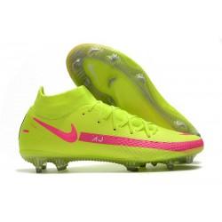 Nike Phantom GT Elite DF FG Mens Cleat Volt Pink
