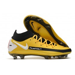 Nike Phantom GT Elite DF FG Mens Cleat Yellow Black White