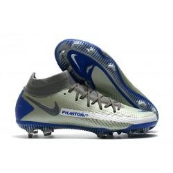 Nike Phantom GT Elite DF FG Mens Cleat Grey Blue