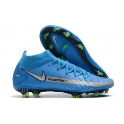 Nike Phantom GT Elite DF FG Mens Cleat Blue Silver