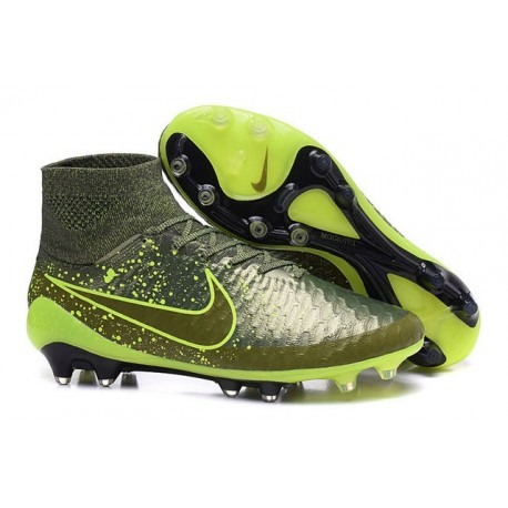 2016 Nike Magista Obra Firm-Ground Soccer Shoes Power Clash Green Black