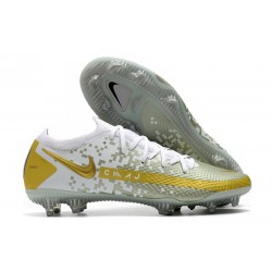 Nike Phantom GT Elite FG New Cleats White Golden
