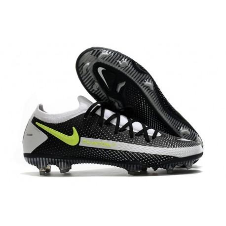 Nike 2021 Phantom GT Elite FG Soccer Shoes Black Gray Volt