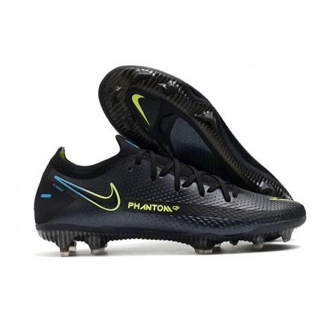 Nike 2021 Phantom GT Elite FG Soccer Shoes Black Yellow