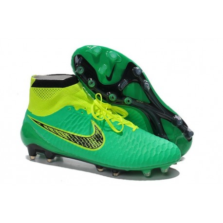 Nike Magista Obra FG Soccer Cleats - Low Price Black Green Volt