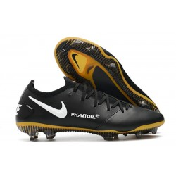 Nike 2021 Phantom GT Elite FG Soccer Shoes Black Gold White