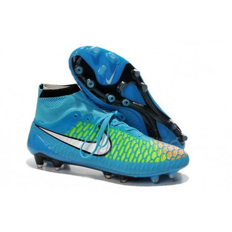 Nike Magista Obra FG Soccer Cleats - Low Price Blue Green Red Black White