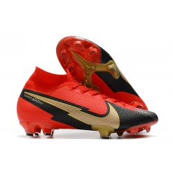 Nike Mercurial Superfly VII Elite FG ACC Red Black Gold