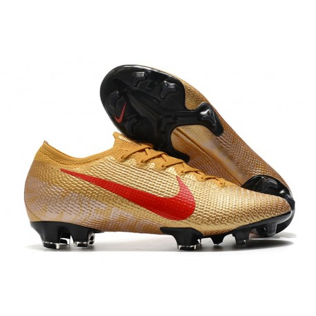 New Nike Mercurial Vapor 13 Elite FG Gold Red