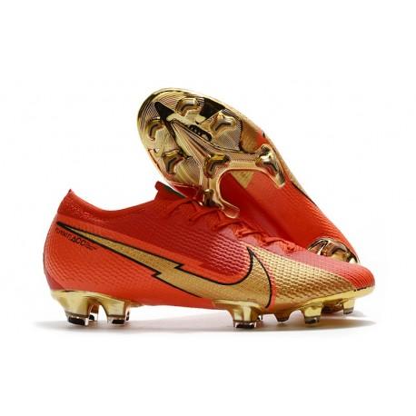 New Nike Mercurial Vapor 13 Elite FG Ronaldo CR7 Red Gold