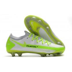 Nike 2021 Phantom GT Elite FG Soccer Shoes White Volt