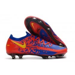 Nike 2021 Phantom GT Elite FG Soccer Shoes Red Blue Yellow