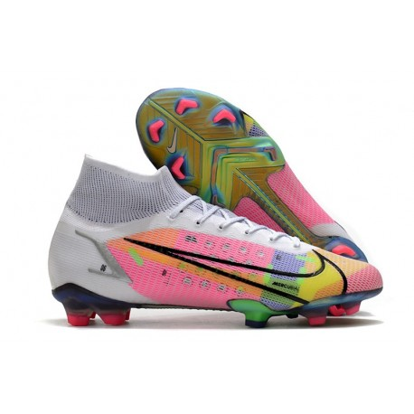 New Nike Mercurial Superfly 8 Elite FG White Pink Black