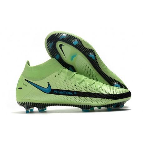Nike Phantom GT Elite DF FG Mens Cleat Green Black Blue