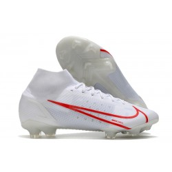 New Nike Mercurial Superfly 8 Elite FG White Red
