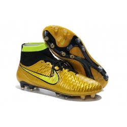 Boots For Men Nike Magista Obra FG Soccer Boots Gold Black Volt