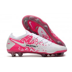 Nike Phantom Generative Texture Elite FG White Pink