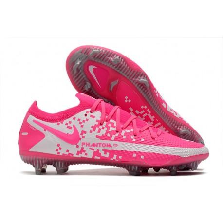 Nike Phantom Generative Texture Elite FG Pink White