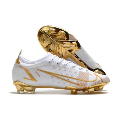 Nike Mercurial Vapor 14 Elite FG Boot White Gold