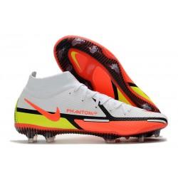 Nike Phantom Generative Texture II Elite DF FG White Bright Crimson Volt
