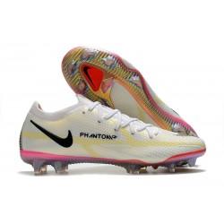 Nike Phantom GT2 Elite FG Shoes White Black Bright Crimson Pink Blast