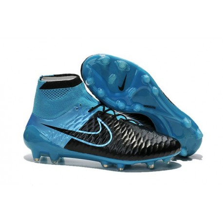 Nike Magista Obra FG Soccer Cleats - Low Price Leather Blue Black