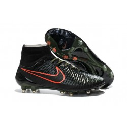 New Shoes - Nike Magista Obra Firm-Ground Football Cleats Black Rough Green Hyper Crimson