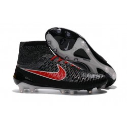 Boots For Men Nike Magista Obra FG Soccer Boots Black Hyper Crimson